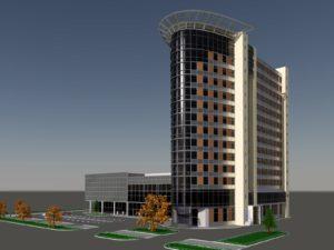 Проект гостиницы и торгово-развлекательного комплекса в Балашихе