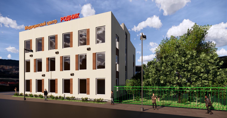 Здание медицинского центра на ул. Шоссейная